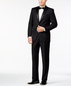 Lauren Ralph Lauren Classic-Fit Solid Black Wool Tuxedo Men - Suits    Tuxedos - Macy s 6a9d5f29a083