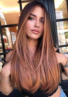 Beautiful Rose Balayage Hair Color Ideas for Ladies in 2020 Brown Hair Color Shades, Hot Hair Colors, Cool Hair Color, Brown Hair Colors, Hair Color Highlights, Hair Color Balayage, Hispanic Hair, Hair Color For Women, Hair Looks
