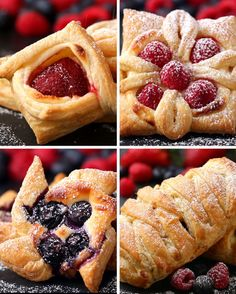 Are Four Ways To Make Incredibly Beautiful Desserts With Puff Pastry Not a recipe, but four ways to make pretty pastries using frozen puff pastry as a base.Not a recipe, but four ways to make pretty pastries using frozen puff pastry as a base. Strawberry Puff Pastry, Frozen Puff Pastry, Just Desserts, Delicious Desserts, Dessert Recipes, Brunch Recipes, Sunday Recipes, Sweet Desserts, Fruit Recipes