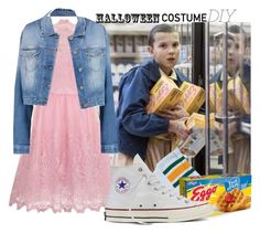 """""""Eleven"""" by karligtc ❤ liked on Polyvore featuring Chi Chi, 7 For All Mankind, Converse, halloweencostume and DIYHalloween"""
