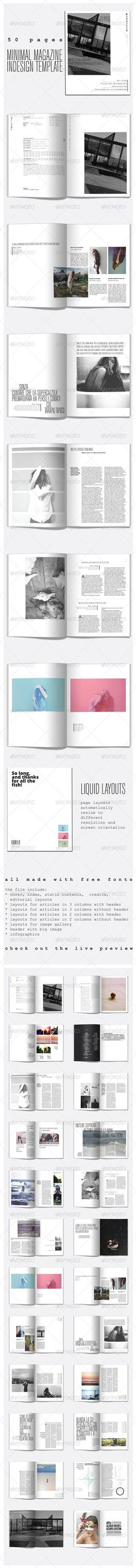 50 Pages Minimal Magazine - Magazines Print Templates