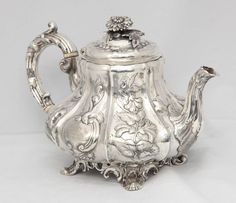 Victorian Sterling Silver Footed Tea Pot  http://www.1stdibs.com/furniture/dining-entertaining/sterling-silver/