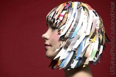 Paper wig made from Elle Magazine. Hair Juliana Koutouzakis  Photo Lauren Sykes