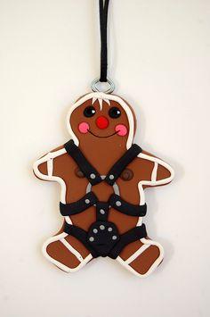 Naughty Little Gingerbread people. $12.00, via Etsy.