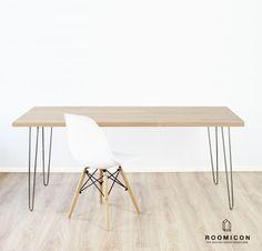 Schreibtische - 4x Hairpin Legs Tischbeine 70 cm Haarnadelbeine 72 - ein Designerstück von roomicon-design bei DaWanda
