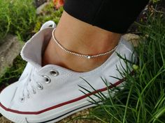 Check out our anklets selection for the very best in unique or custom, handmade pieces from our shops. Handmade Bracelets, Handmade Jewelry, Beaded Bracelets, Bracelet Festival, Bracelet Bras, Elephant Anklet, Bracelets Roses, Argent Antique, Antique Silver