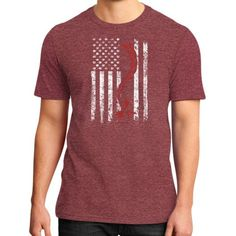 Apparels redhead flag District T-Shirt (on man)