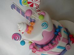 amazing candy birthday party cake