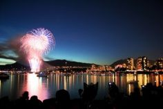Vancouver Canada Day Burrard Inlet Fireworks Show - July 2012 Canada Day Fireworks, Best Fireworks, Fireworks Show, Vancouver Hotels, Vancouver Bc Canada, Vancouver City, Vancouver Island, Granville Street, Granville Island