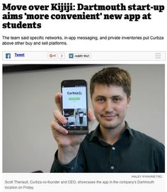 Move over Kijiji: Dartmouth start-up aims 'more convenient' new app at students . By: Haley Ryan for @metronewsca . Students scouting for furniture this fall can bring the power of the curb to their phone. Last week Curbza a person-to-person selling and decluttering app based in Dartmouth launched networks for every university and NSCC campus in the province to make it easier for students to find what they need in their actual neighbourhood. . Everyones used to Kijiji or other things but…