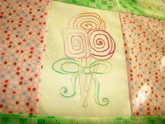 Lollipop Candy Hand Embroidery PDF ePattern by countrygarden, $4.00