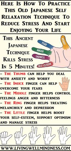 Acupressure Stress Japanese Technique to Kill Stress in 5 Minutes - How to lower stress mind and body relaxation techniques,relief the stress stress prevention and management,stress strategies exercise and stress reduction. Health And Beauty, Health And Wellness, Health Tips, Health Fitness, Stress Free, Stress Relief, Autogenic Training, Relaxation Techniques, Massage Techniques
