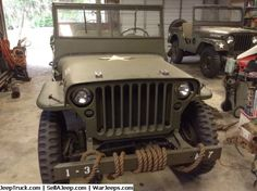 """1942 WW2 Jeep. It is Model GPW built by Ford and identical in every way to the Willys Model MB. Both Ford and Willys shared the WW2 production of 500,000 Jeeps almost equally. Ford had a policy of identifying virtually all of their parts including Bolts with the Ford script \""""F\"""". Because of this, a complete and original GPW will usually sell for a higher price than the comparable Willys."""