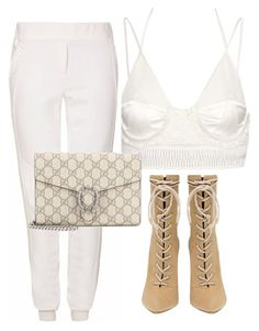 """""""Untitled #93"""" by nelafashion ❤ liked on Polyvore featuring Balenciaga, Pritch London and Gucci"""