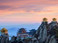 Ultimate Purity Temple (太清观) on the summit of Daoist mountain Mt Laojun, Henan Province