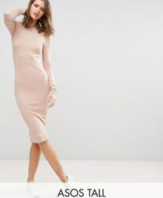 Find the best selection of ASOS TALL Midi Bodycon Dress in Rib with Long Sleeves. Shop today with free delivery and returns (Ts&Cs apply) with ASOS! Going Out Dresses, Dresses For Work, Tall Dresses, Women's Dresses, Mini Dresses, Party Dresses, Tall Women, Latest Dress, Occasion Dresses