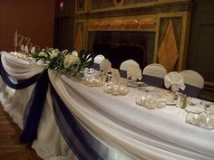 Wedding, Cake, Decor, Blue, Table, Head, Theme, The wedding decorators inc
