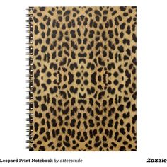 Leopard Print Notebook ($12) ❤ liked on Polyvore featuring home, home decor, stationery, animals, cat and leopard