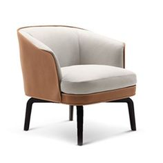 Poltrona Frau Nivola Armchair - Style # Nivola-Chair, Modern Armchair - Contemporary Armchair - Leather Armchair - Swivel Armchair | SwitchModern.com