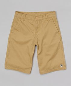 Another great find on #zulily! Dark Khaki Chino Shorts - Boys by DC #zulilyfinds