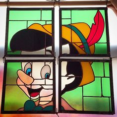 Pinocchio. 5 of 5 Ron Herman and Disney. Happy 5 year anniversary Ron Herman Tokyo. Thank you. #colinadrianglass #stainedglass #pinocchio#ronherman #disney #handmade