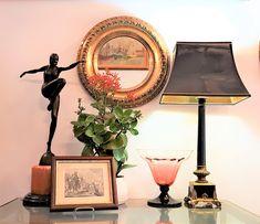Round Repousse Brass Mirror. Mirror Table, Brass, Brass Mirror, Decor, Repousse, Mirror, Home Decor