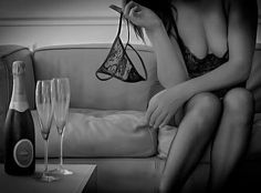 """sensual-dominant: """"Someone is ready to celebrate New Year…good girl! Corset, Champagne, Risky Business, Art Of Love, Woman Wine, Erotic Photography, Bustier, Black And White Pictures, Madame"""