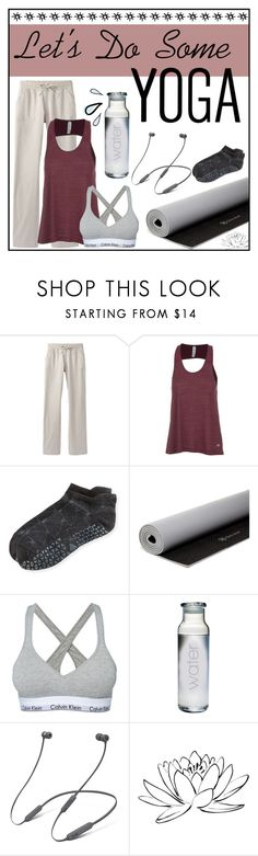 """""""Yoga Style"""" by katelyn-graham ❤ liked on Polyvore featuring prAna, Alo, Tavi Noir, Gaiam, Calvin Klein, Susquehanna Glass, Beats by Dr. Dre, Brewster Home Fashions and yoga"""