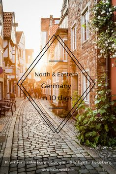 Train tour through North and West Germany