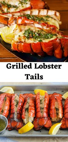 This grilled lobster is perfect for any occasion. Even if you dont have a lot of experience in grilling shellfish, this will be an easy recipe for you if you start with either fresh or frozen lobster tails. Garlic Recipes, Fish Recipes, Seafood Recipes, Seafood Boil, Baked Lobster Tails, Broiled Lobster Tails Recipe, Grilled Lobster Recipes, Easy Romantic Dinner, Cooking Frozen Lobster Tails