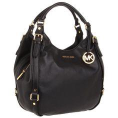 Michael Kors 30H1GBFE3L-001 Women's Bedford Large 2013 Summer Style Black Leather Shoulder Bag