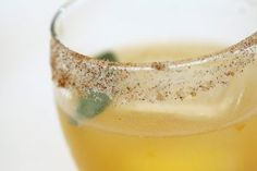 Ginger Apricot - cocktail recipe with rokz ginger cardamom vodka infusion and sweet heat ancho chili sugar rim