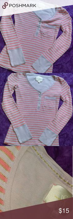 Victoria's Secret Long Sleeve Top VS stripe glitter long sleeve top. Size extra small. Can fit small-med. In great condition. Thanks for viewing. Any questions feel free to ask. Happy poshing! Victoria's Secret Tops Tees - Long Sleeve