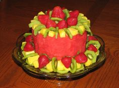 Fruit Cake (Fresh Fruit in the Shape of a Cake)