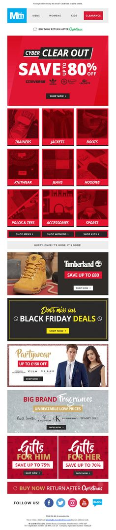 74f6388bf69 Cyber Monday Email from M M Direct  EmailMarketing  Email  Marketing   CyberMonday  Cyber
