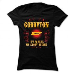 Corryton - Its where story begin - #shirt refashion #pink sweatshirt. GET YOURS => https://www.sunfrog.com/Names/Corryton--Its-where-story-begin-Black-Ladies.html?68278