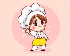 Cartoon Chef, Cartoon Logo, Cartoon Icons, Girl Cartoon, Cartoon Art, Art And Illustration, Turkey Cartoon, Cute Bakery, Chef Logo