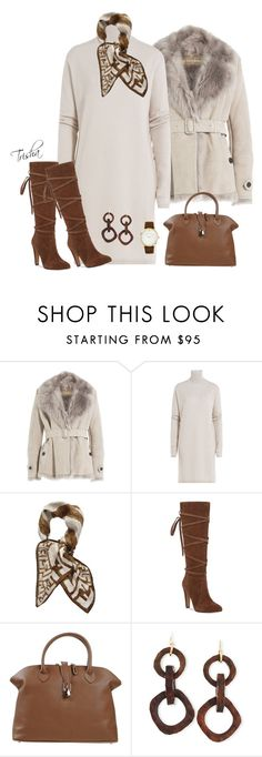 """Workwear"" by pkoff ❤ liked on Polyvore featuring Burberry, Rick Owens, Fendi, Vince Camuto, Golden Goose, NEST Jewelry and Larsson & Jennings"