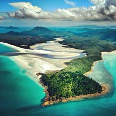 A magnificent view over The Whitsundays, Queensland, Australia
