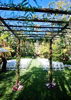 Garden wedding idea via @StyleMePretty