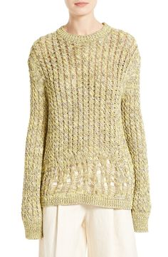 Main Image - JOSEPH Destroyed Cable Knit Pullover