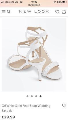 81cd4390e03 No. 1 Jenny Packham Ivory  Paris  stone embellished high sandals ...