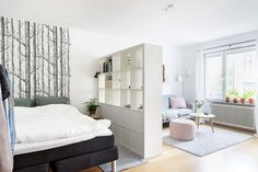 Wohnung 2 Studio Apartment Ideas Layout Room Dividers 10 Outdoor Lighting Tips For Your Home The per Apartment Room, Bedroom Divider, Small Apartment Bedrooms, Apartment Living Room, Apartment Bedroom Decor, Studio Room, Studio Apartment Layout, Apartment Layout, Bedroom Layouts