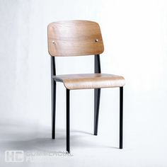 Replica Jean Prouve from HC Commercial Furniture Commercial Furniture, Light Oak, Dining Chairs, Dining Room, Light Colors, Bar Stools, Home Decor, Bar Stool Sports, Decoration Home
