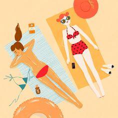 illustration #bagnivirginia #beach #loano #liguria #italia