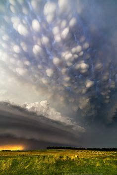 """yourstrulyfranca: """" atmospheric-phenomena: """" Supercell, Burwell Mammatus clouds by Ryan McGinnis """" """" Beautiful Sky, Beautiful Landscapes, Photoshop, Mammatus Clouds, Cool Pictures, Beautiful Pictures, Unbelievable Pictures, Funny Pictures, Nature Photography"""