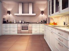 Imagen de pisos y azulejos deCocinas, Linen (Marrone)