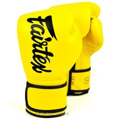 BGV14 Fairtex Yellow Lightweight Microfibre Boxing Gloves