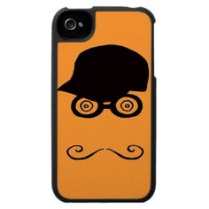 Funny mustache face iphone 4 cases by In_case