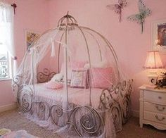 Princess Carriage Bed! Looks Like You Could Use Pvc Pipe And A Topper From  An